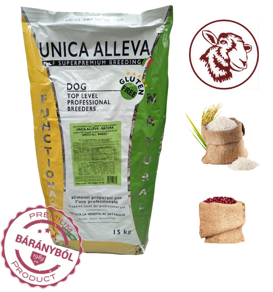 Unica Natura Unico All Breed - Lamb rice and beans