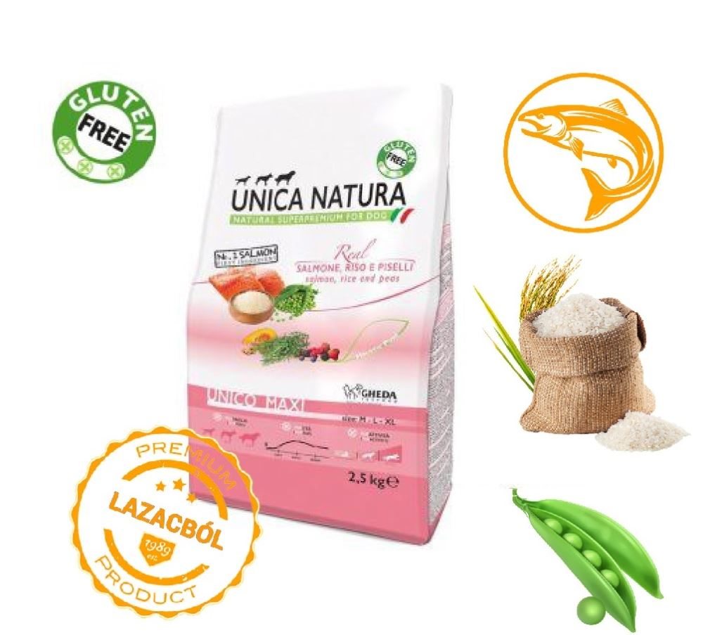 Unica Natura Unico All Breed - Salmon rice and green peas